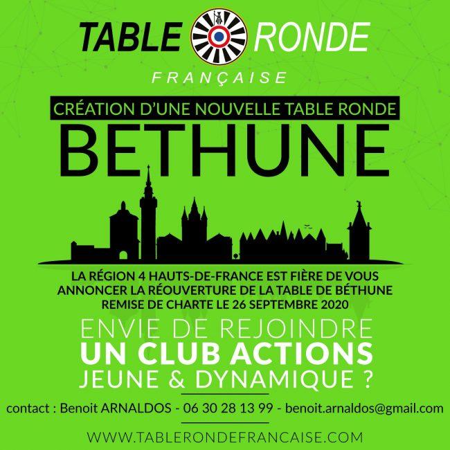 Réouverture de la Table Ronde de Béthune